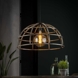 Hanglamp 70 dome - Oud zilver