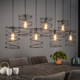 Hanglamp 7x20 curl - Charcoal