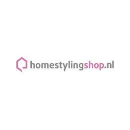 Riverdale buitenkussens Be happy bruin wit 45 x 45 cm