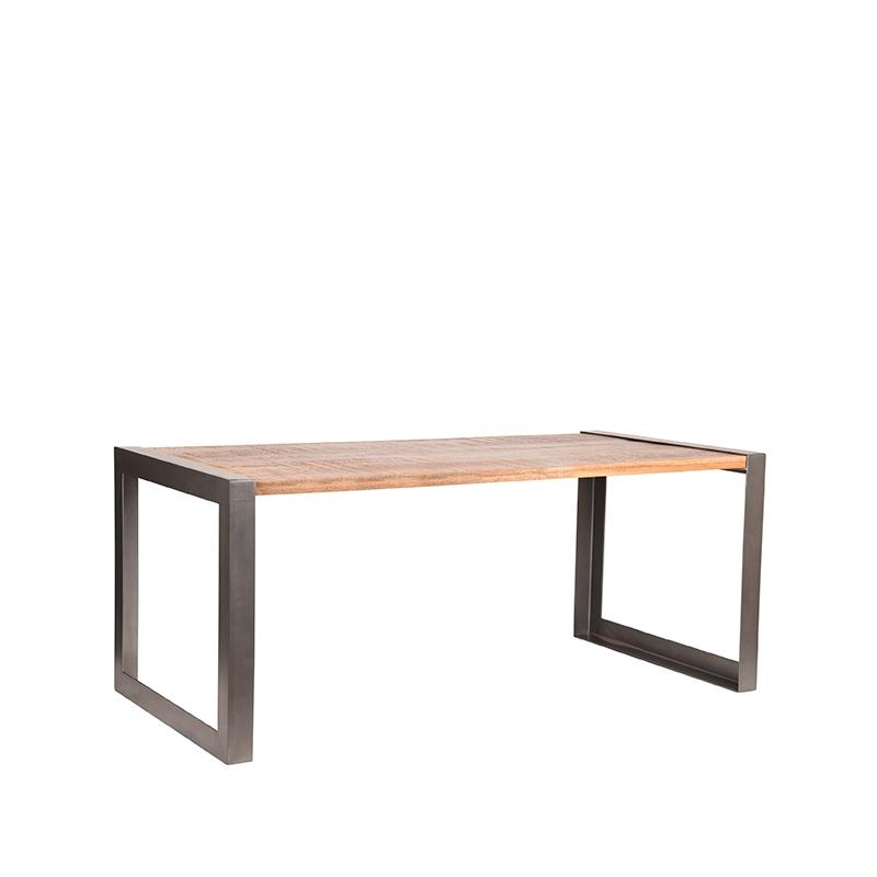 LABEL51 Eetkamertafel Factory - Rough - Mangohout - 220x95 cm