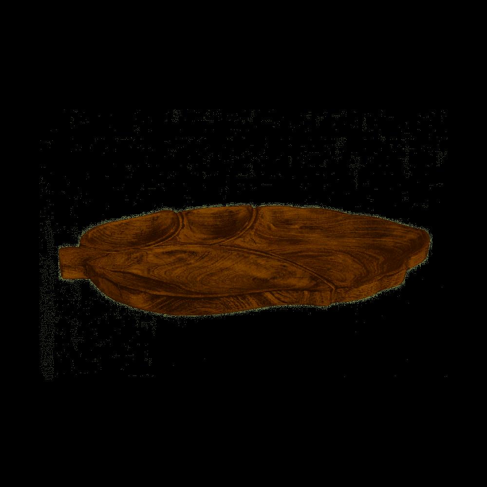 Houten dienblad leaf naturel 49x29 cm