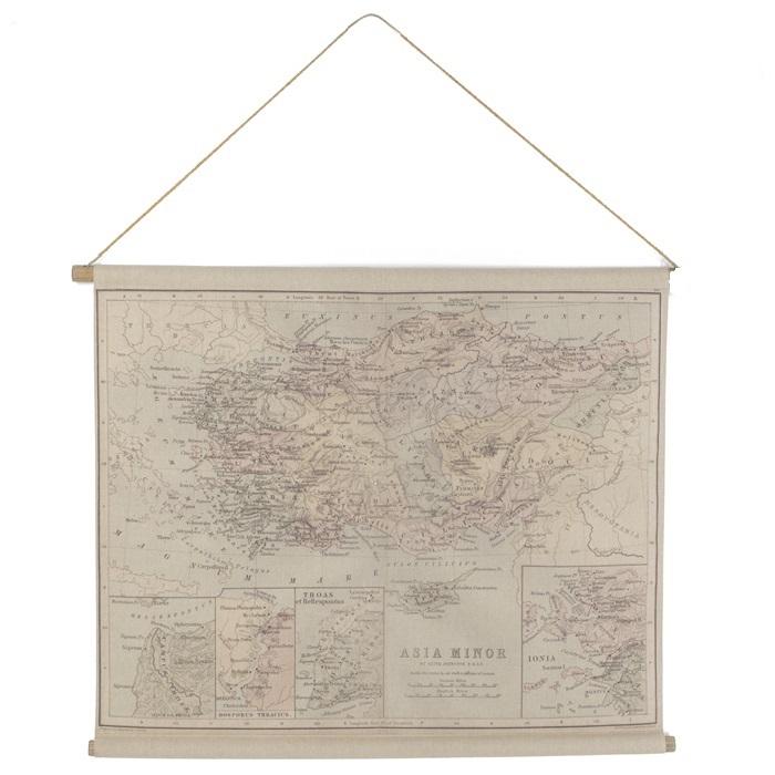 Landkaart Azie 90 x 72 cm