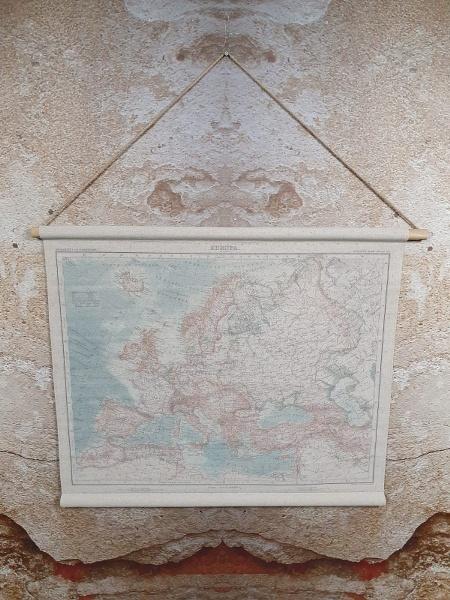 Landkaart europa 90 x 70 cm