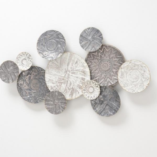 Metalen wandobject 3D 111x62 cm