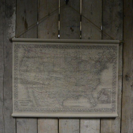 Oude landkaart Amerika 104 x 94 cm