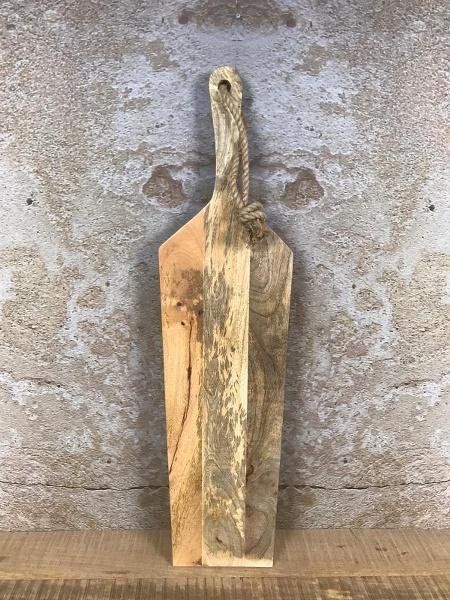 Tapasplank XXL naturel - mangohout - 99x26x2,5 cm