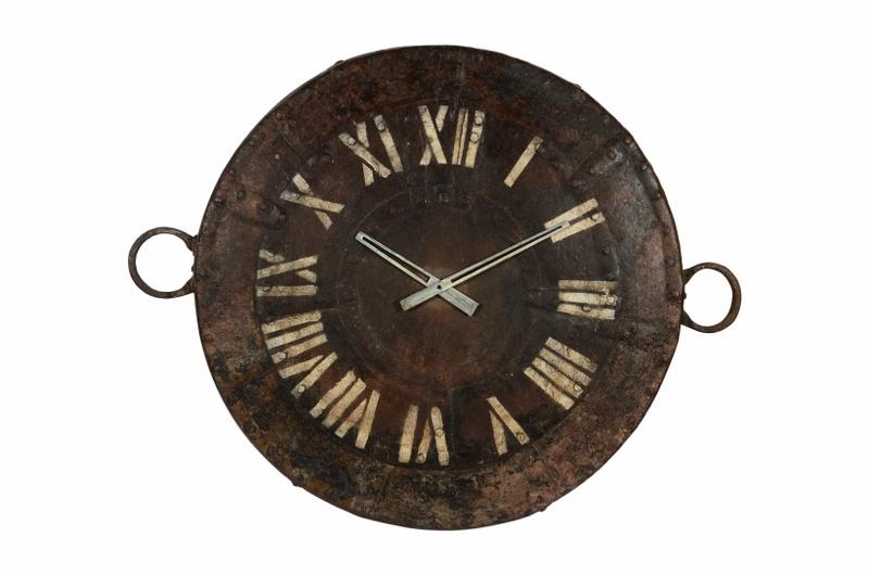 Wandklok vintage iron 89x67 cm