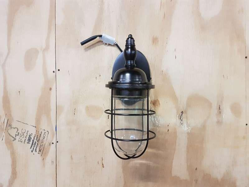 Wandlamp Barn donkerbruin 31 cm